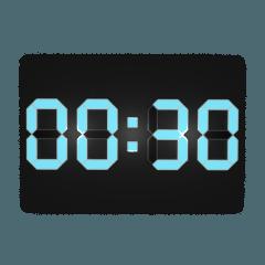 デジタル時計(30分)