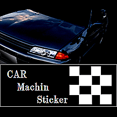 CAR Machin Sticker type1