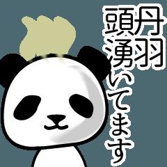 丹羽■面白パンダ名前スタンプ