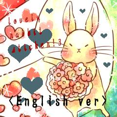 Lovely rabbit sticker!3<English version>