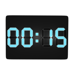 デジタル時計(15分)