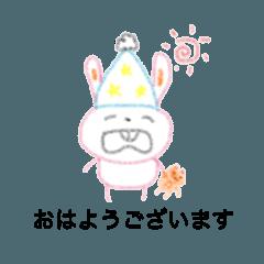 [LINEスタンプ] Usagi stickers by Meili-2