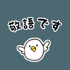 しろころインコ 敬語編