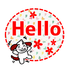 [LINEスタンプ] よく使う基本の英語のあいさつ!