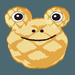 カエルメロンパン