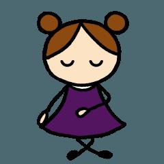 あばたーちゃん 小紫の女の子②