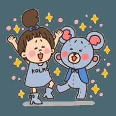コルメちゃん&エフくん なかよしスタンプ