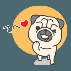 パグ犬ぱす太の日常スタンプ1