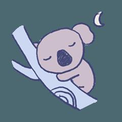コアラは眠い