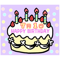 7月の誕生日ケーキ