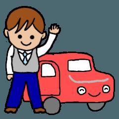 [LINEスタンプ] タクシー運転手の画像(メイン)