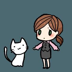しろねこさんとネコ子2