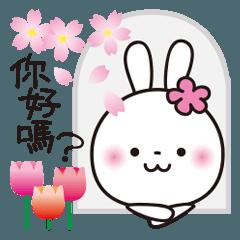 春♥️花うさちゃん[中国語繁体字]