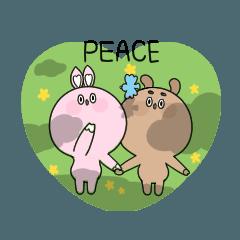 ラブラブ☆ ウサギのカップル☆ 1