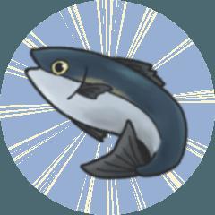 超使いやすい魚のスタンプ