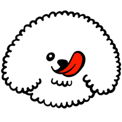 ましゅまろ犬ペロペロ1(ビションフリーゼ)
