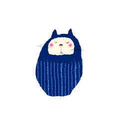 御木幽石 公式だるま猫スタンプver1