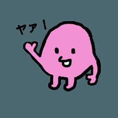 ピンクの生きもの