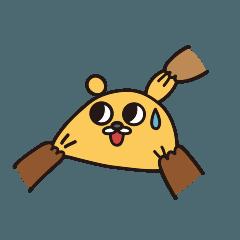 微笑む黄色い熊さん