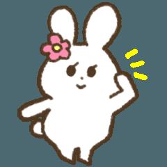 [LINEスタンプ] おだやかうさぎ (1)