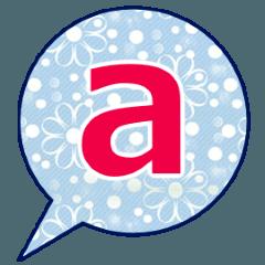 [LINEスタンプ] abcアルファベットすたんぷ!
