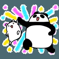 パンダと白いハムスター3