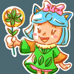 「ツクリテの森」妖精スタンプ第1弾