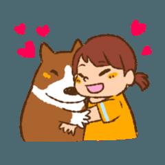 [LINEスタンプ] みるく&ゆきちゃん (1)