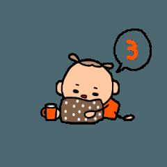 オレンジちゃんのスタンプ3