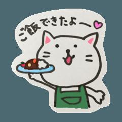 シンプルネコちゃん②(家族向け)