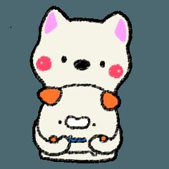 ぽちゃ犬 to おこじょさん