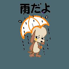 [LINEスタンプ] 今日は雨かな、晴れかもね
