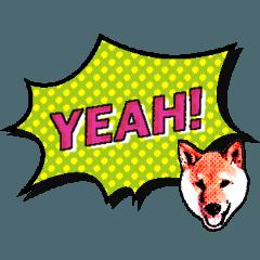 柴犬で英語 アメコミ風
