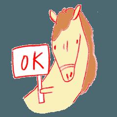 [LINEスタンプ] お馬くん