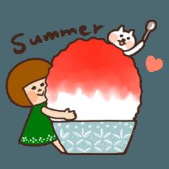 ハナチャンと猫《なかよし夏敬語》