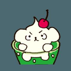 ソフトクリーム犬