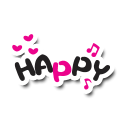 Colorful Text Stickers. 01