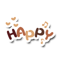 Colorful Text Stickers. 02