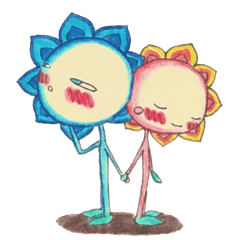 個性溢れる花