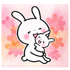 [LINEスタンプ] 子育てウサギ2(ママ編) (1)