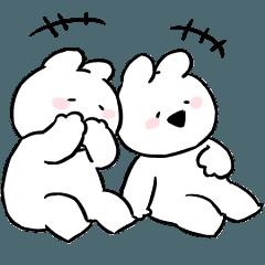 [LINEスタンプ] すこぶる動くちびウサギ2