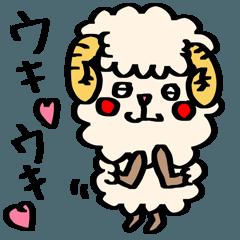 カラフルな可愛い羊のスタンプ