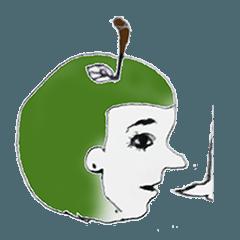 りんご頭と動物たち(英語)