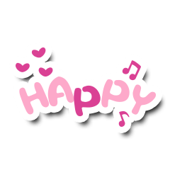 Colorful Text Stickers. 08