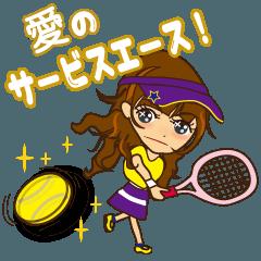 OLありさ、テニスに夢中!