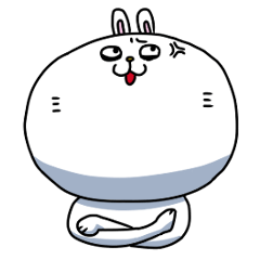 目つきの悪いウサギンのスタンプ