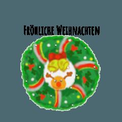 [LINEスタンプ] クリスマス&ウィンター ドイツ語編の画像(メイン)