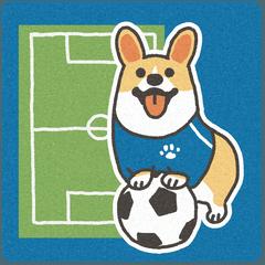 1コギのサッカー応援スタンプ