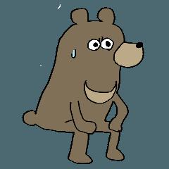 スタンプのことばっか言う熊