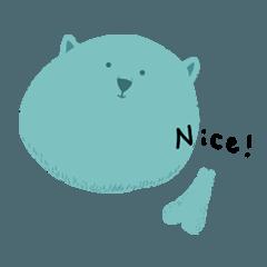 青い熊の日常スタンプ